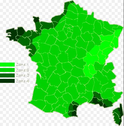 Carte de France des vents