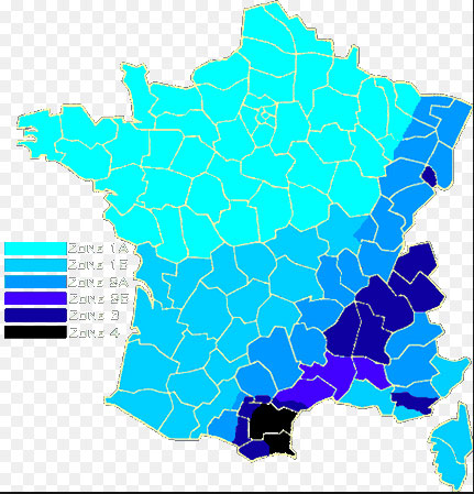 Carte de France des zones de neige