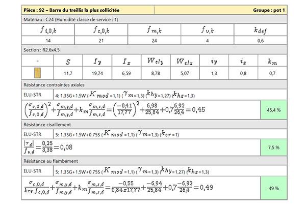 Exemple de calculs de résistances de yourte contemporaine
