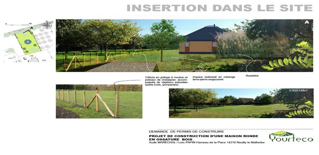 Plan d'insertion pour permis de construire une yourte