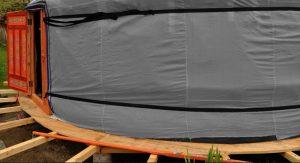 infiltrations d'eau dans la yourte quand il pleut
