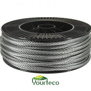 Câble acier galvanisé pour yourte par boutique Yourteco
