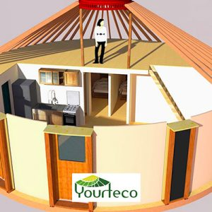 Service élaboration de plan de yourte de la boutique Yourteco