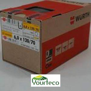Vis pour bois torx marque Wurth pour yourte boutique Yourteco